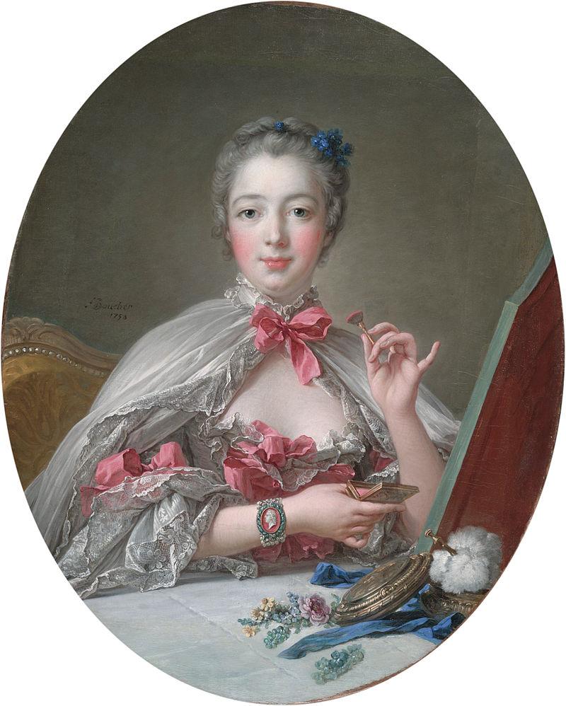 François Boucher - Jeanne-Antoinette Poisson Marquise de Pompadour, 1758
