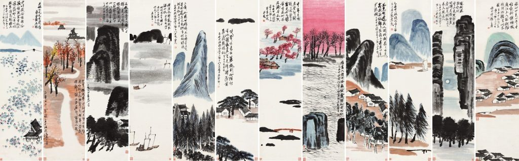 Qi Baishi, 'Twelve Landscape Screens', 1925. Photo: Poly Beijing