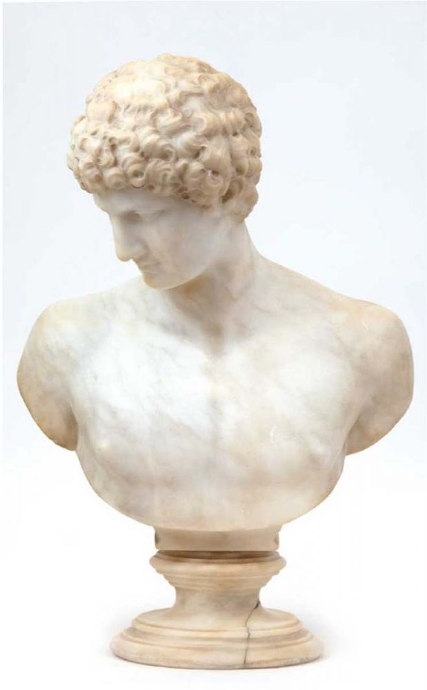 """Büste """"Adonis"""" aus weißem Marmor"""