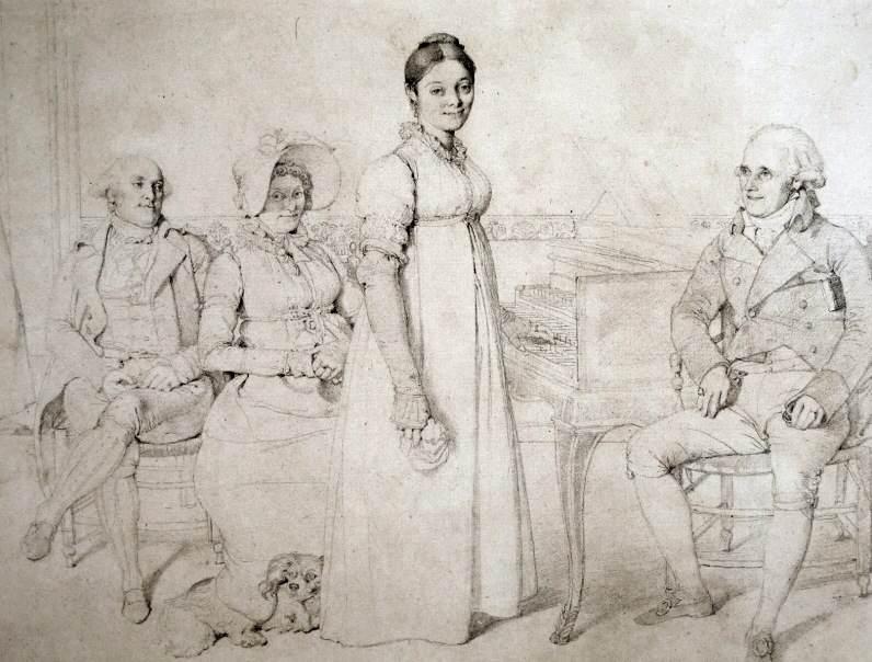 Teckning av Jean Auguste Dominique Ingres