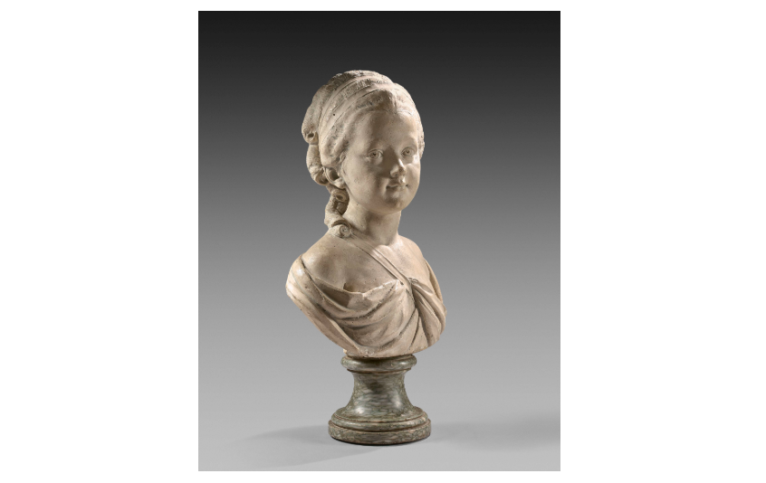 18th-century French School, Augustin Pajou's Workshop, Bust of a Young Girl. Photo: Artcurial