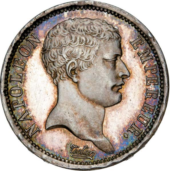 2 francs Napoléon Empereur, tête de nègre 1807 Paris
