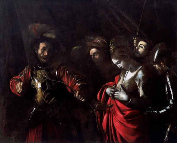 Le Caravage, Le Martyre de Sainte Ursule, 1610, image via Wikipedia