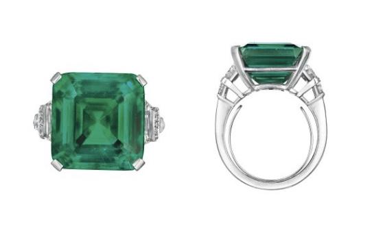 Der Ring mit dem Rockefeller-Smaragd. Eine Arbeit von Raymond Yard