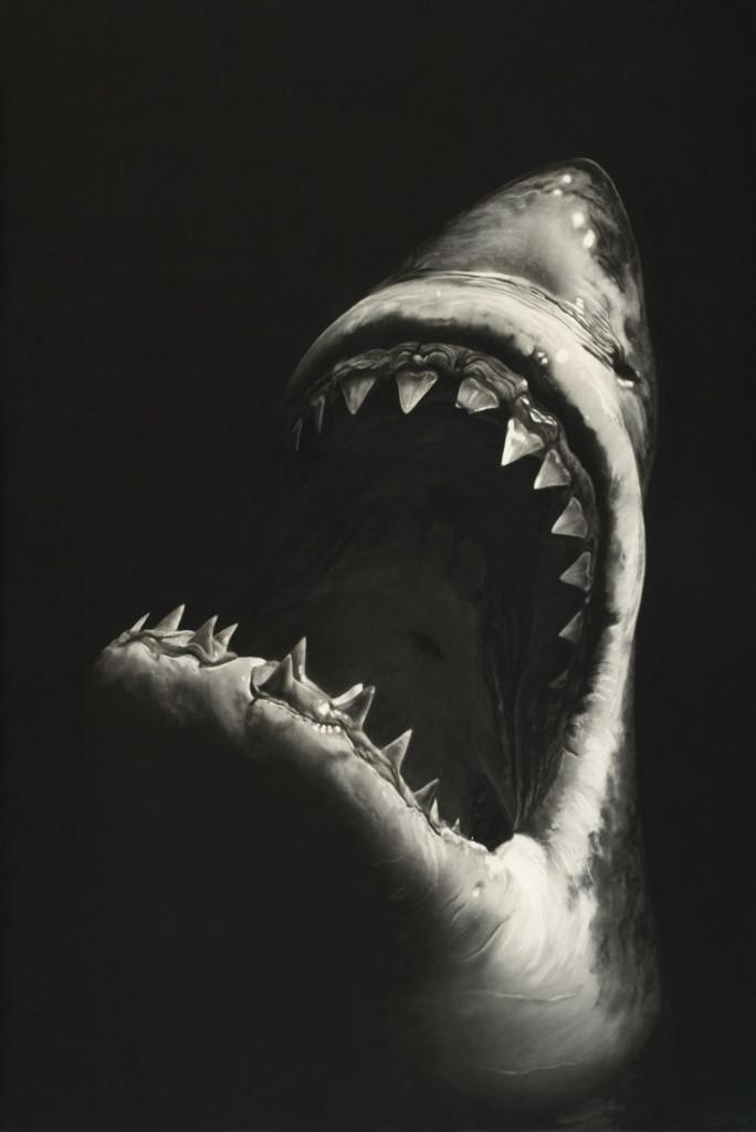 ROBERT LONGO (Brooklyn/New York 1953) - Ohne Titel (Shark 7), Kohle/Papier/Aluminium, 228,6 x 152,4 cm, monogrammiert und datiert, 2008 Schätzpreis: 400.000 EUR