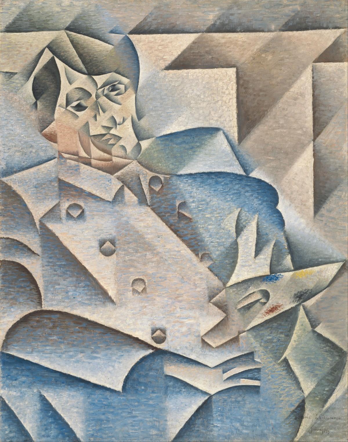 JUAN GRIS. Hommage à Picasso (1912). Imagen vía: Google Art Project