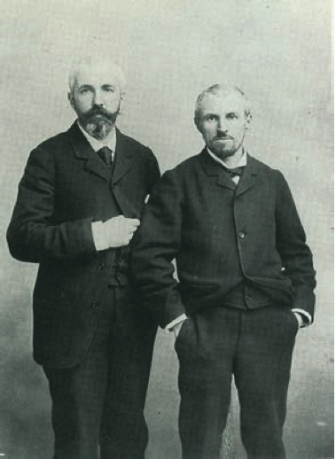 Photography of Martial and Gustave Caillebotte, c. 1886