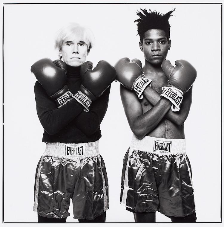 Michael Halsband Andy Warhol and Jean-Michel Basquiat 1985 Gelatin Silver Print