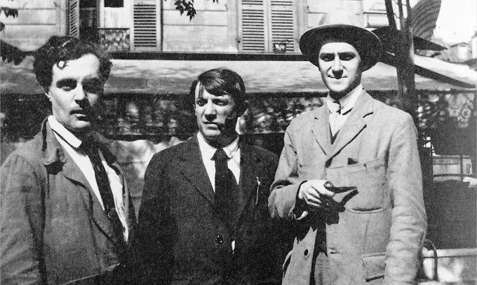 Modigliani och Picasso till vänster i bild. Bild: pablopicasso.org