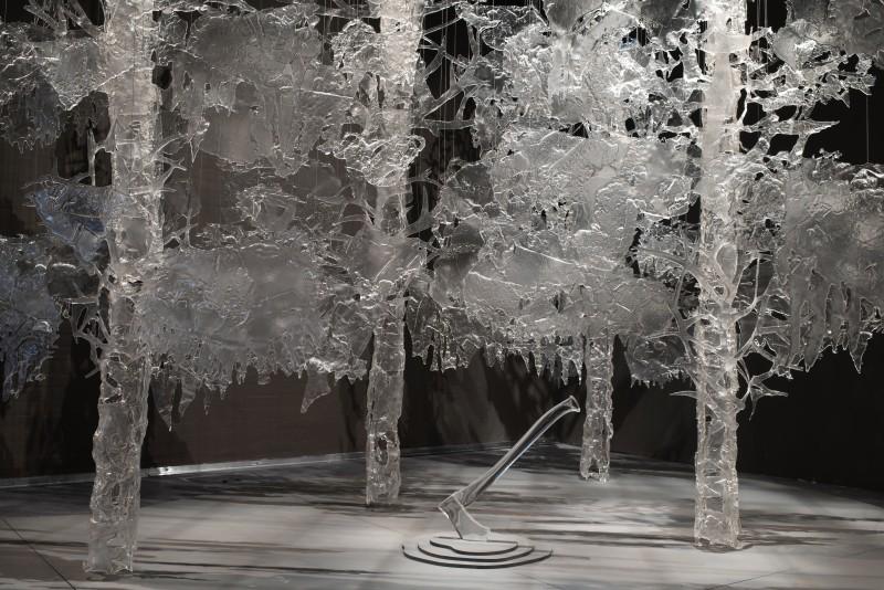 Från och med den 17 januari kan du se Ingalena Klenells enastående glasträd på Galleri Glas. Foto: Eva Akre.