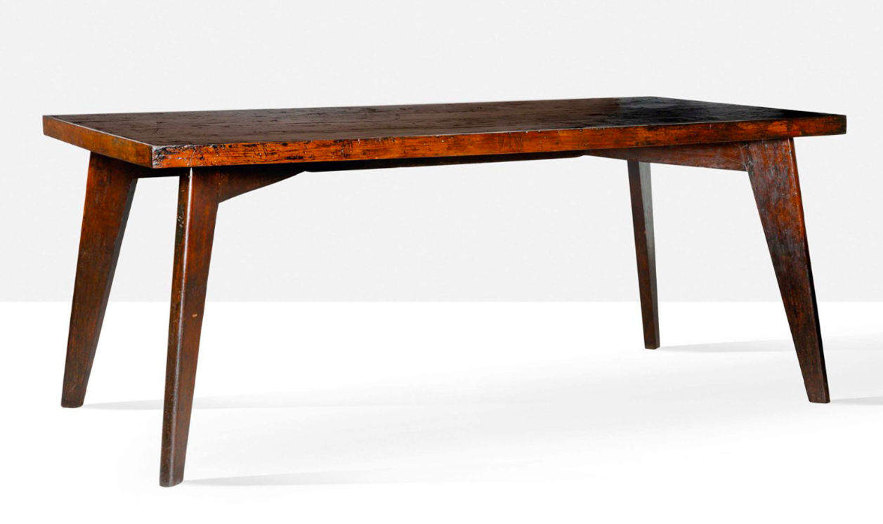 Pierre Jeanneret, table dite Dining table, circa 1963, image © Aguttes