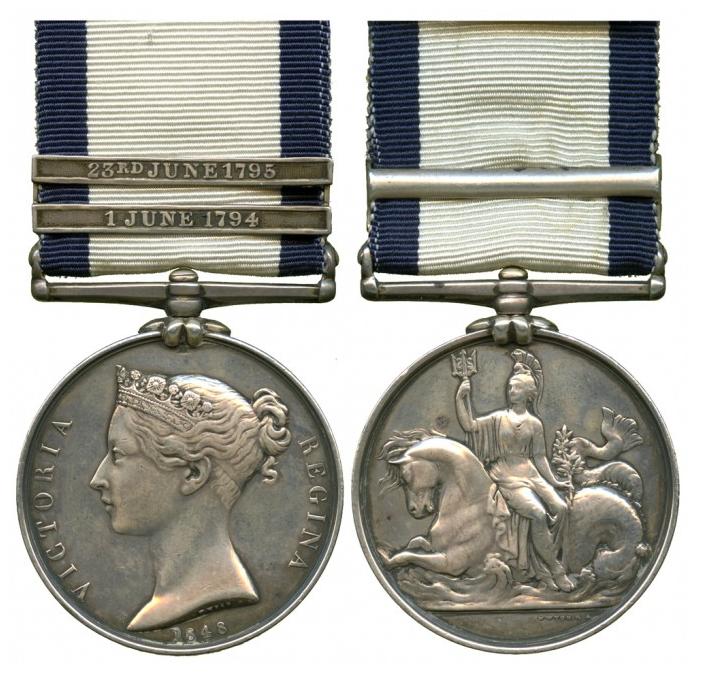 Médaille du service général naval 1793-1840 En vente chez Baldwin's