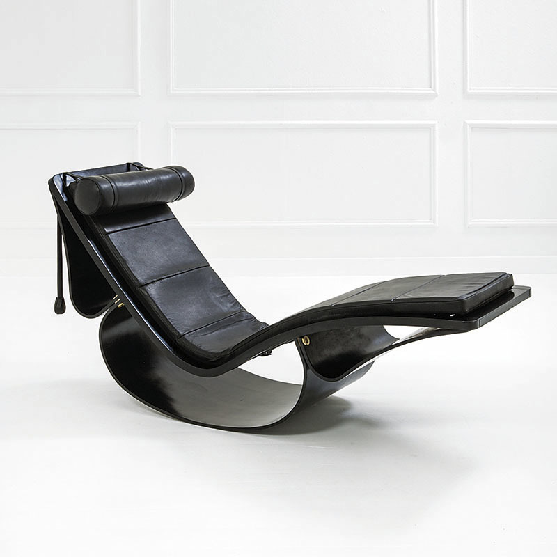 Chaise longue mod. Rio, Prod. Fasem, ca. 1978, estimation : 4 500 – 6 500 euros