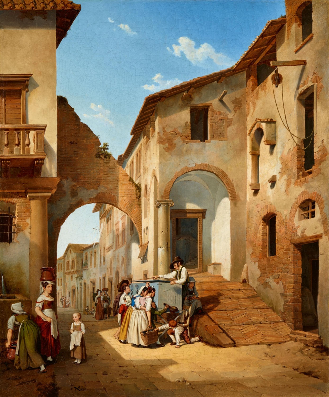 Michael Neher, Une rue à Tivoli, 1832, image © Lempertz