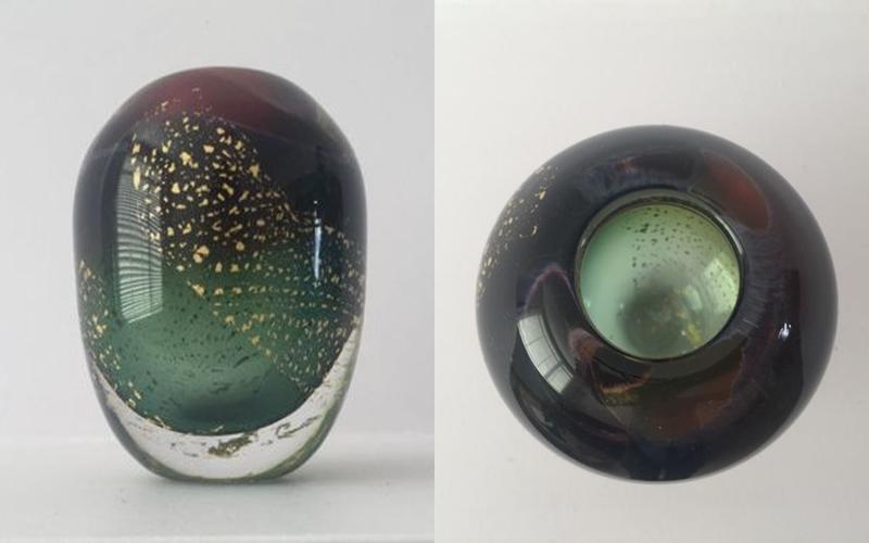 MAXENCE PAROT. Creación única de vidrio soplado. Firmada (2015)