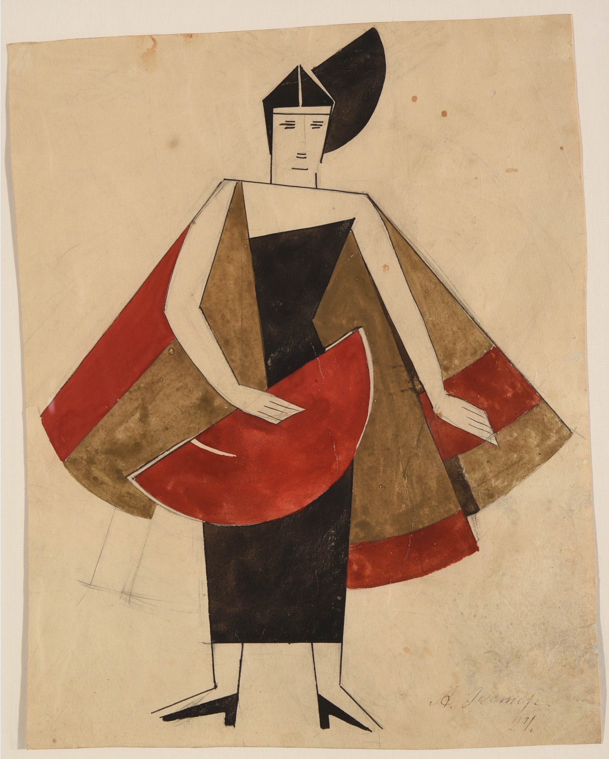 Alexandra Alexandrovna Exter, Costume Design for 'The Ghost Lady', 1924. Photo: © HVMC