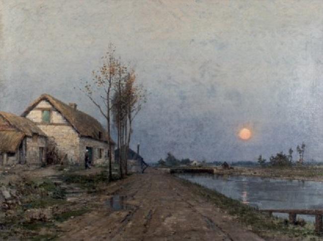 RENÉ BILLOTTE (1846-1914) - Scène de crépuscule, Öl/Lwd. Startpreis: 4.500 EUR