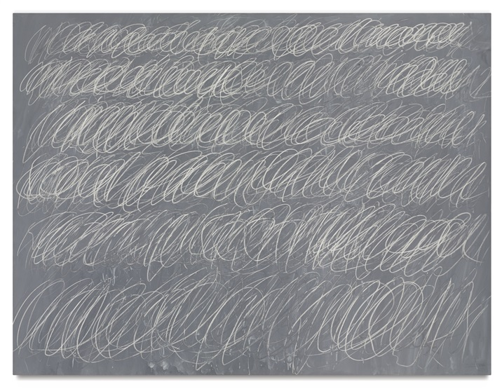 Cy Twombly, Untitled ( (New York City) (1968). Såld för 70.5 miljoner dollar. Foto: Sotheby's