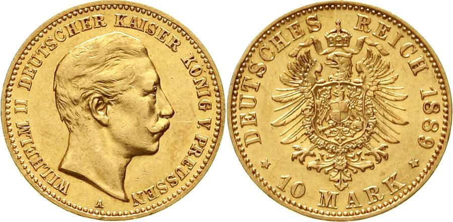 Preußen Wilhelm II. 10 Mark 1889