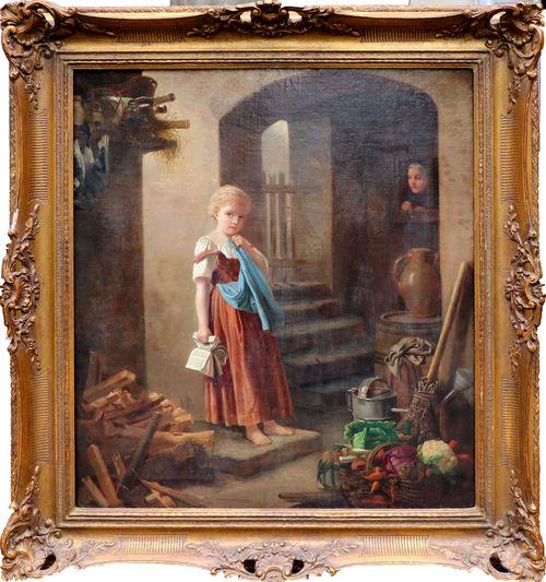 LÉON BAZILE PERRAULT (1832-1908) - Méditation, Öl/Lwd., signiert