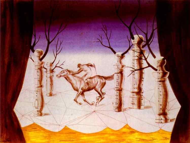 René Magritte, Le Jockey perdu, 1926 | Abb. via renemagritte.org