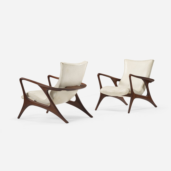Vladimir Kagan Countour lounge chairs, pair Wright Now