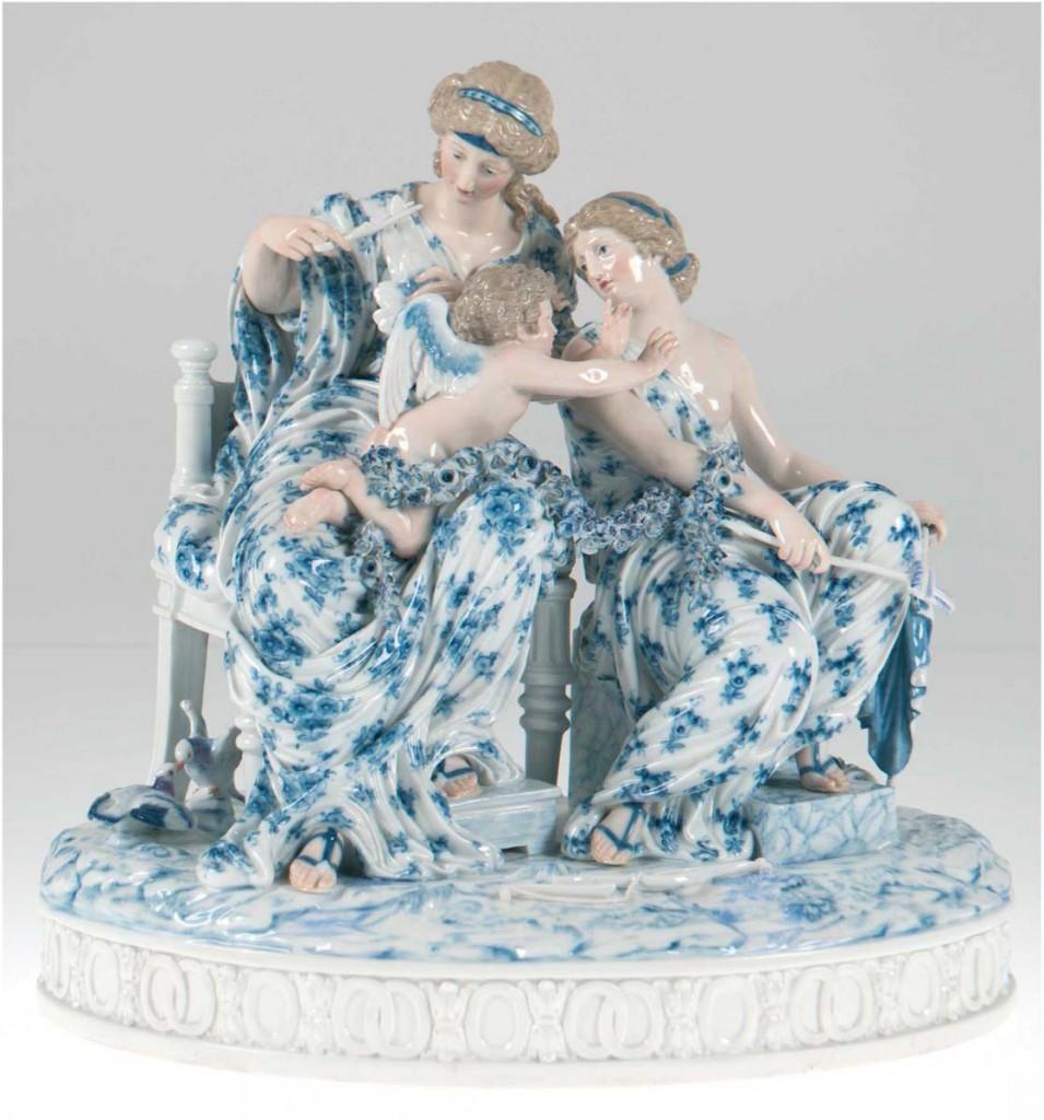 """MEISSEN - Figurengruppe """"Amor in Nöten"""", Entwurf von Christian Gottfried Jüchtzner, H: 32 cm, 1789 Limitpreis: 5.000 EUR"""