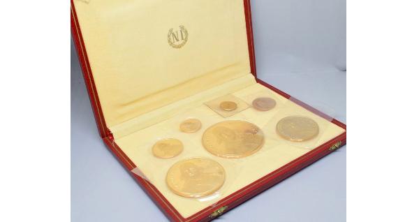 Conjunto de 7 medallas de oro conmemorativas acuñadas por Monnaie de Paris
