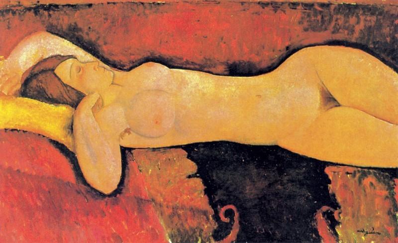 Amedeo Modigliani, Le Grand Nu, ca. 1919 | Abb. via Guggenheim Museum