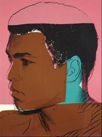 ANDY WARHOL - Muhammad Ali, Serigrafie 113/150, 82x108 cm, Andy Warhol Enterprises, Inc., gedruckt von Rupert Jason Smith, New York Schätzpreis: 30.000-45.000 EUR