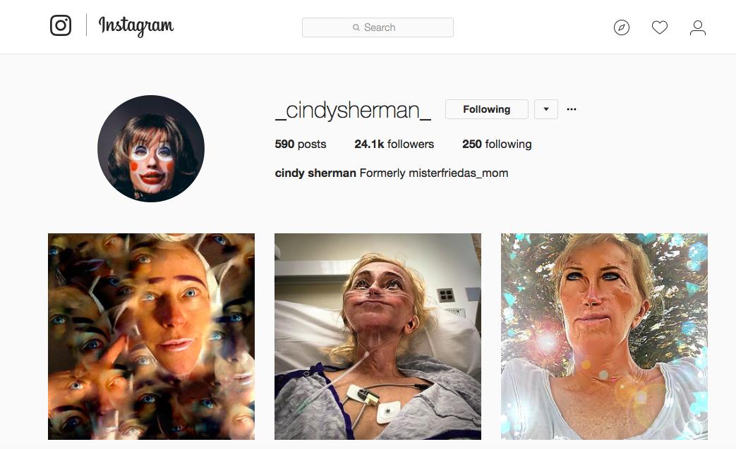 Image: Instagram/_cindysherman_