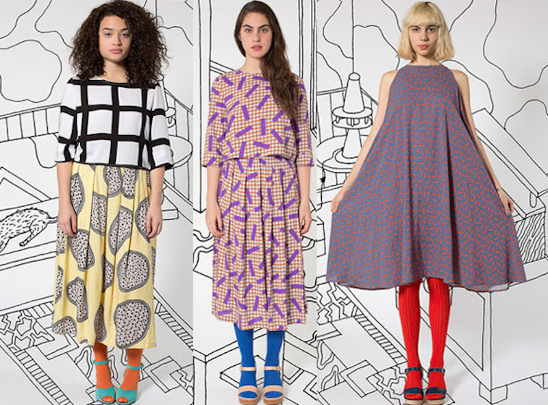 Items from the American Apparel collection x Nathalie du Pasquier, 2014. Photo: Pattern People