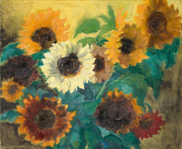 """Emil Nolde. """"Helles Sonnenblumenbild"""". 1936 Oil on canvas.  Precio mínimo estimado: 1 000 000 EUR. Grisebach"""