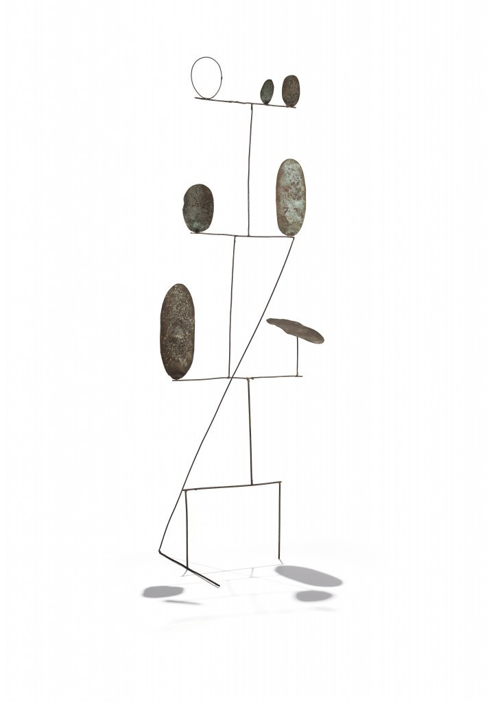 Fausto Melotti (1901-1986) - Poesia, Messing, 120 x 44 x 30 cm, 1962 Estimation: 180.000-240.000 EUR