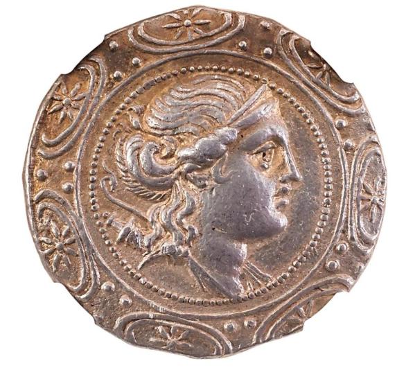 ANCIENT MACEDON UNDER ROME AR TETRADACHM COIN. Low estimate 800 USD.