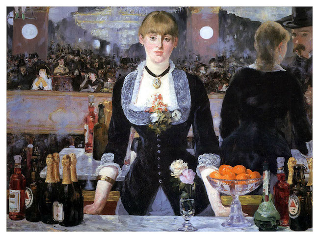 """Édouard Manet, """"Un bar aux Folies Bergère"""", 1882."""