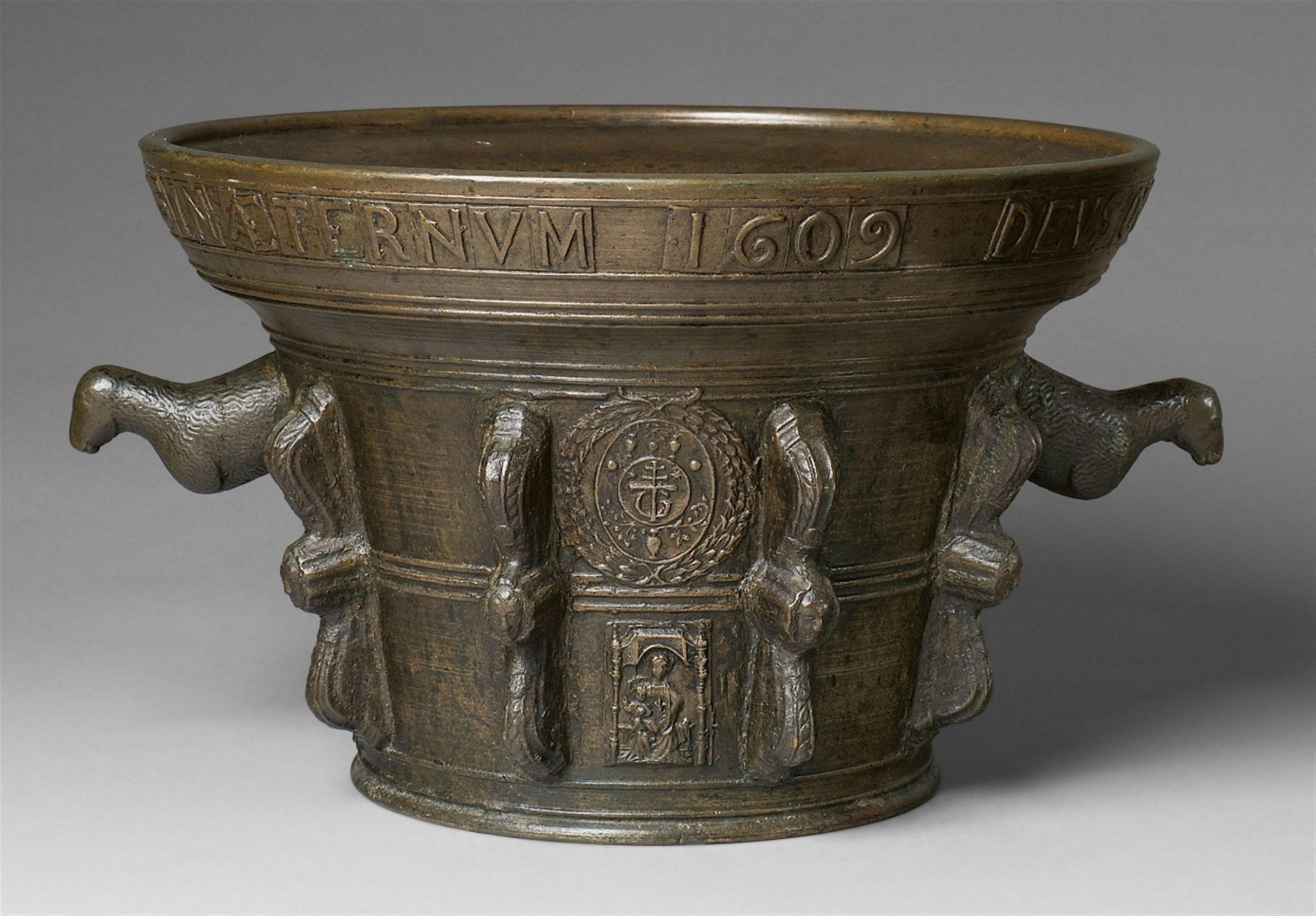 Mortier pour un monastère, Le Puy-en-Velay, 1609, image © Lempertz