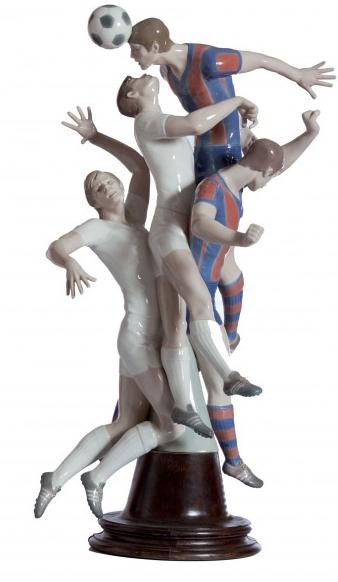 Figures de porcelaine de l'équipe de Madrid et de Barcelone par Lladro Durán Subastas