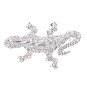 Broche lézard diamants par Tiffany