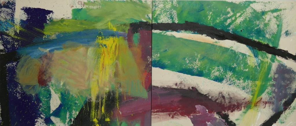 Untitled (diptych), William Quigley. 1990, oil on acrylic.