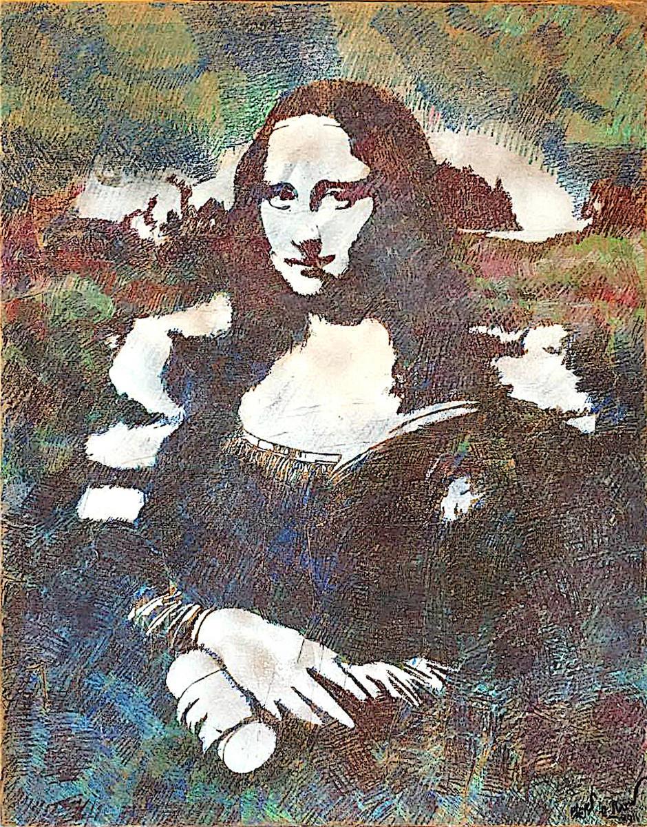 Blek Le Rat - Mona Lisa, 2012 | Galerie Ange Basso