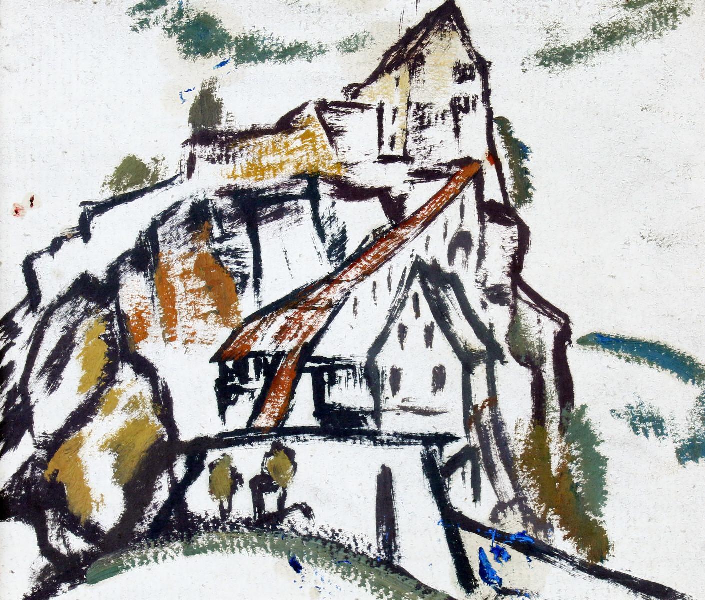 "Johann Walter-Kurau (1869-1932), ""Zitadelle"", Öl/Karton, gestempelt | Foto: Zwack"