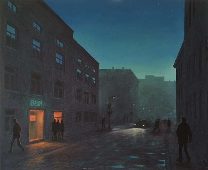 "Galleri Bruno Dahl, Mikael Kihlman, ""Bar 1"" 81 x 100 cm, 30 000 SEK"
