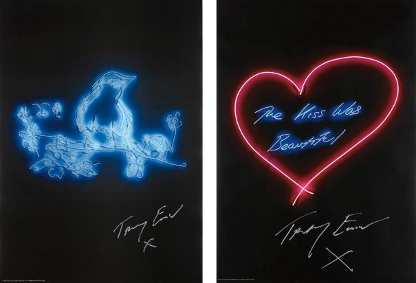 Tracey Emin My Favourite Little Bird; and The Kiss was Beautiful, 2015-16Estimate: £1 000 - 1 500Phillips