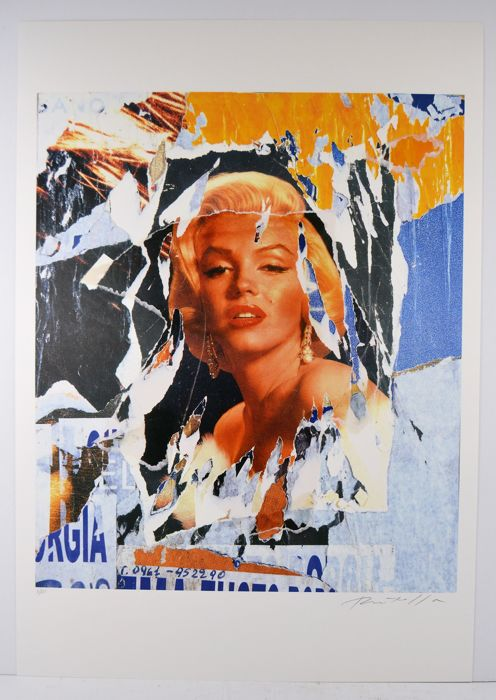 MIMMO ROTELLA (1918 - 2006) - Omaggio a Marilyn, signiert