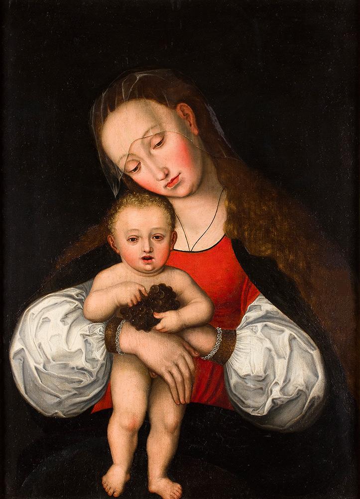 AMBROSIUS BENSON (Mailand ? ca. 1495 – Fiandern 1550) - Madonna mit Kind, Öl/Holz, 85x61 cm Schätzpreis: 50.000-70.000 EUR