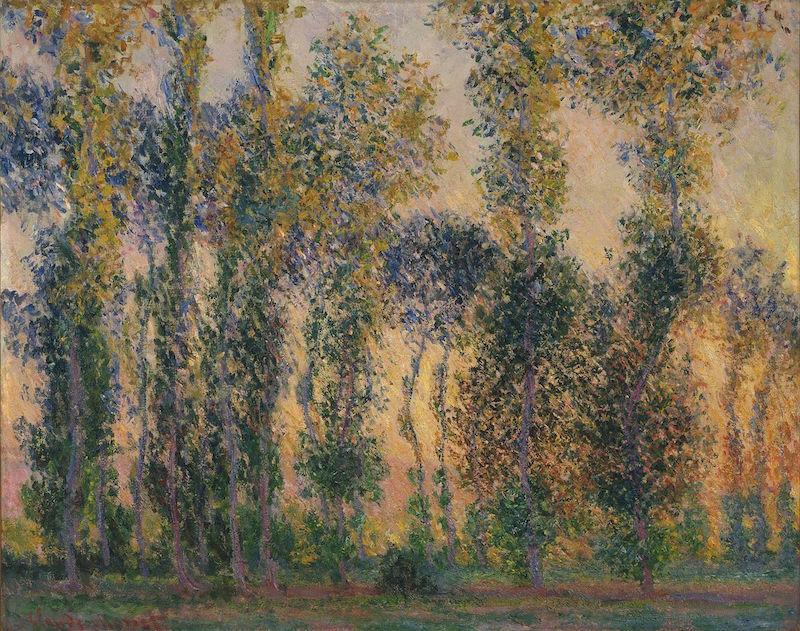 Claude Monet, Les Peupliers à Giverny, 1887
