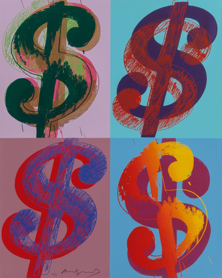 Andy Warhol (1928-1987) $ (Quadrant), 1982 Image via Heritage Auctions