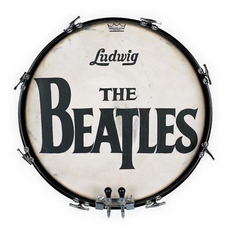 The Beatles trumskinn från 1964. Utrop: 6 810 000 SEK Julien's Auctions