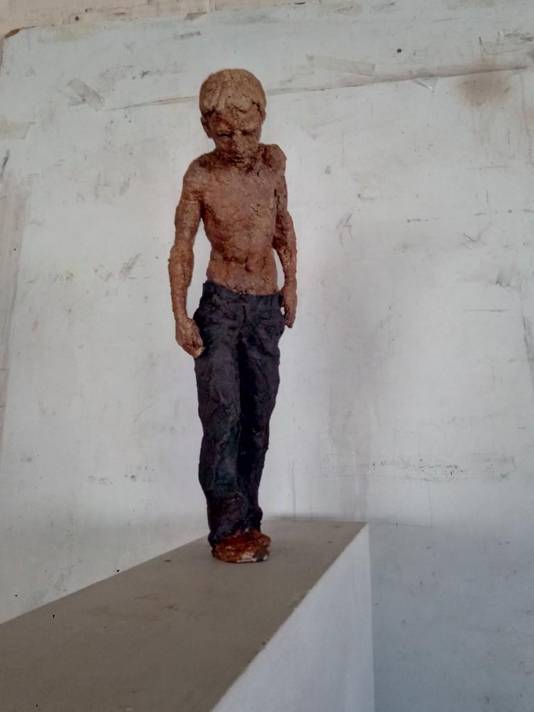 Teresa Riba, skulptur. Riba ställer ut tillsammans med Anquins Gallery.